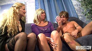 Horny german milfs share dick 11 min