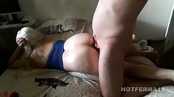 Fucking the blonde wife behind