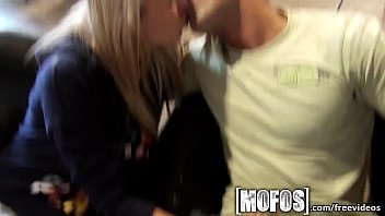 Mofos - Young couple fuck in café in public thumbnail