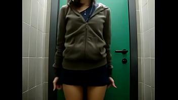Teen anal insertion in public bathroom - on Live69Girls.Com