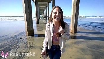 Real Teens - New girl Megan Marx gets naughty at the beach