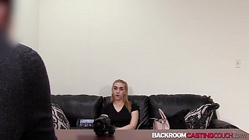 Young blonde Penelope ass fucked in creampie casting preview image