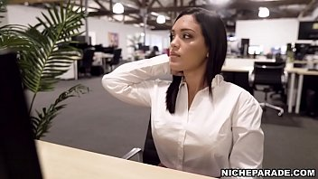 NICHE PARADE - Young Latina Alina Belle Masturbating On The Job