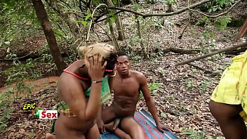 Village Outdoor Threesome - Hunter Caught me Fucking Popular Village Slut (Trailer) صورة