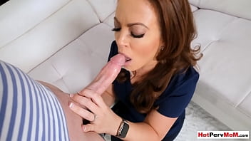 MILF stepmother Carmen Valentina knows how to make her stepsons day better