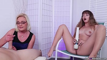 Daughter Watches Mom Give a Handjob - Over 40 Handjobs