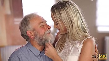 Call daddy having sex - Old4k. old man with beard actively stretches young blonde on daybed