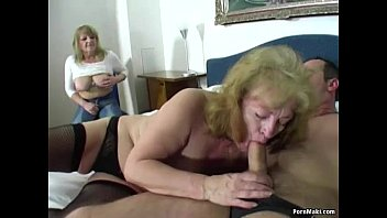 Mature ffm porn - Two granny one dick