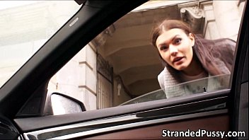A hot anal sex inside the car with the stranger and sexy Kitana