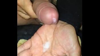 Cum Hand Eating