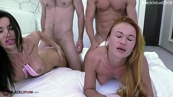 Lesbians Double Blowjob Cocks Muscular Guys and Hard Doggy Sex in Massage Room صورة