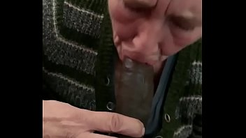 Old white grandma sucking on young bbc