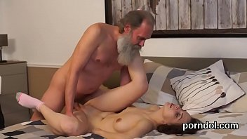 Pretty college girl was seduced and banged by older mentor