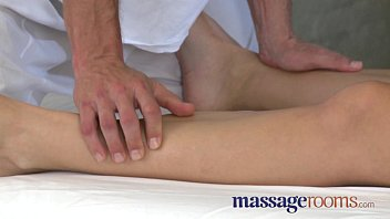 Massage Rooms Soft perfect feet and legs are worshiped before climax thumbnail