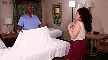 Redhead mature MILF gets a massage and deep fuck from BBC stud