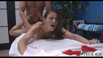 Dink visits vigorous brunette bombshell Samantha Ryan's cave