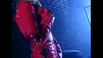 Nylons and latex Blonde fingering and masturbating in thigh highs