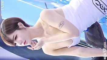公众号【是小喵啦】韩国车展短发气质模特的神仙颜值,完美身材