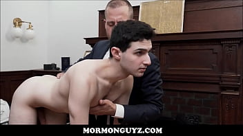 Mormon Boy Inspection And Fuck With President Lewis