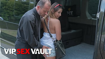 FUCKED IN TRAFFIC - Kattie Hill - CZECH TEEN HOPE ON VAN AND RIDES DADDY