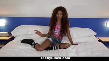 TeenyBlack - Petite Ebony (September Reign) Does Splits While Riding Dick