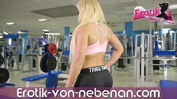 Public anal and ass to mouth at supermaket with german blonde fitness amateur teen