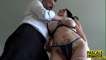 Tied up and anally banged submissive