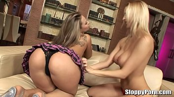 Amazing busty lesbians Mandy Dee and Dominno
