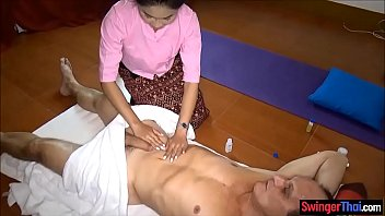 Asian massage parlor from Thailand gives full service thumb