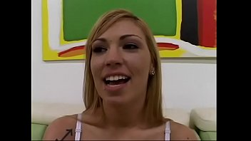 """Nineteen-years old blonde college girl from Sacramento Emma Ray was invited to """"POV Casting Couch"""" show and she came to grips with this challenge"""