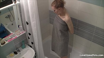 Free naked women videos at bathroom Curvy girl gets naked and takes a shower