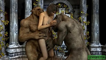 Having sex toons - Double penetrated by ogres. 3dx animation