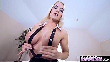 (Blanche Bradburry) Huge Butt Oiled Girl Enjoy Anal Hardcore Intercorse clip-11