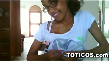 Teen ebony tease - Toticos.com - fine ass dominican girl with glasses gets naked on live webcam