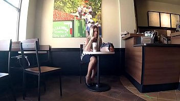 Cams4free.net - Celeste Shoeplay at the Coffee Shop