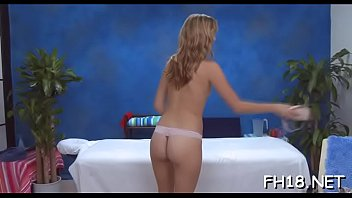 Charming 18 year old cuteie gets fucked hard by her massagist