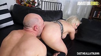 AMATEUR EURO - Big Ass Blonde Alessia Di Pesaro Has Hot Anal Sex On Casting Couch With Omar Galanti