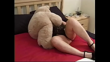 Nasty out of shape grannie in lingerie fucks unwitting guy