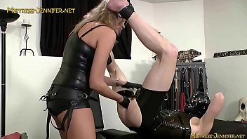 Tall blonde femdom Mistress is nasty dominatrix