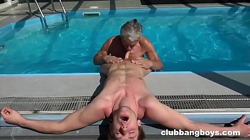 Grandpas and twinks cocks Grandpa eats twinks ass and cum off his chest