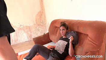 Horny cop wants sex with dirty Czech gypsy slut Naomi Bennet. At first she did not like this idea, but then enjoyed a hot fuck 7 min
