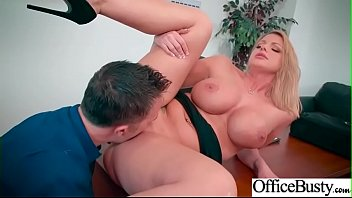 Sex Scene In Office With Hot Busty Superb Girl (Brooklyn Chase) video-06