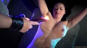 Squeezed boobs Red punished ass suffering harsh whipping in bondage