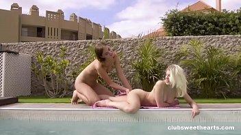 Poolside Lesbian Paradise