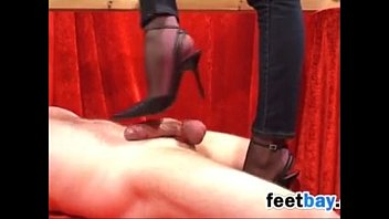 Using Her Beautiful Feet On His Cock