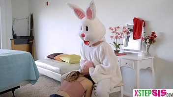 Teen easter eggs hunt ends up on the bunnies hard cock