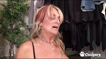 Chunky Old Cougar Joanna Depp Slides Her Little Thong To The Side & Gets Fucked