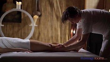 Massage Rooms Big tits brunette Josephine Jackson sensual blowjob and doggy 12 min