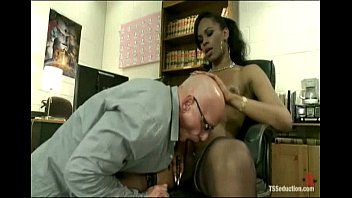 Tranny dom black - Hot black ts girl rams her cock up the ass of an arrogant co-worker
