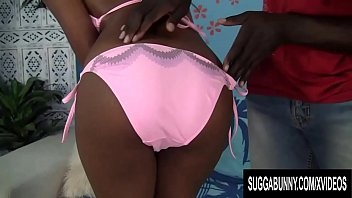 Small Tit Black Babe Brandi Fox Takes a Fat Cock in Her Tight Pussy image